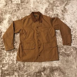 Orvis Tan Mens Barn Casual Button Coat Size Large